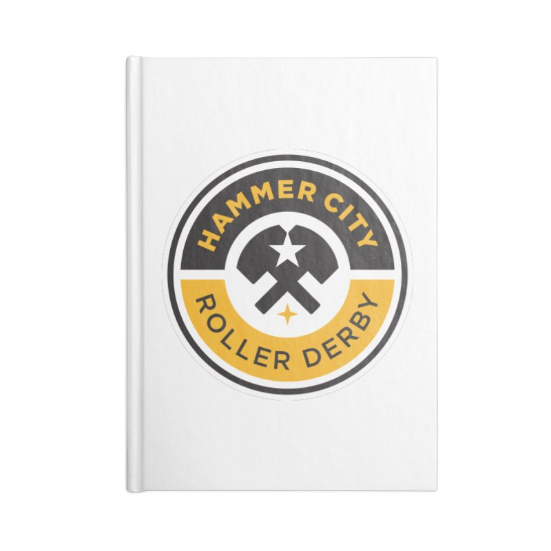 HCRD official logo Accessories Lined Journal Notebook by Hammer City Roller Derby