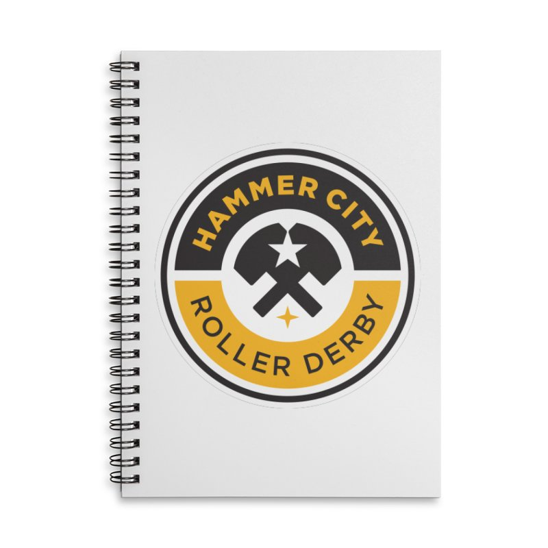 HCRD official logo Accessories Lined Spiral Notebook by Hammer City Roller Derby