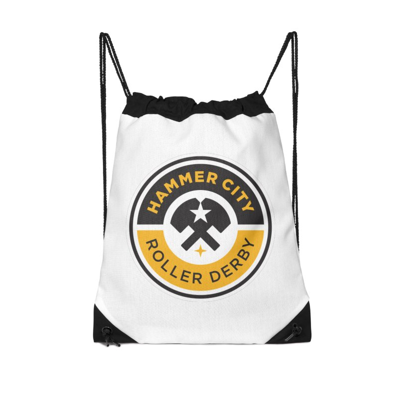 HCRD official logo Accessories Drawstring Bag Bag by Hammer City Roller Derby