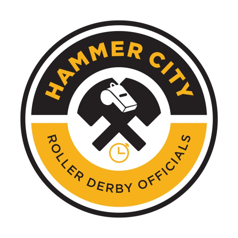 HCRD OFFICIALS Logo   by Hammer City Roller Derby