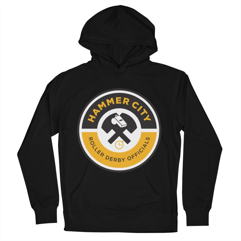 HCRD OFFICIALS Logo Men's French Terry Pullover Hoody by Hammer City Roller Derby