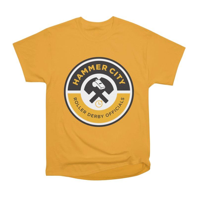 HCRD OFFICIALS Logo Men's Heavyweight T-Shirt by Hammer City Roller Derby