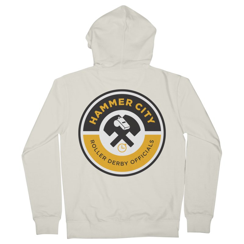 HCRD OFFICIALS Logo Men's French Terry Zip-Up Hoody by Hammer City Roller Derby