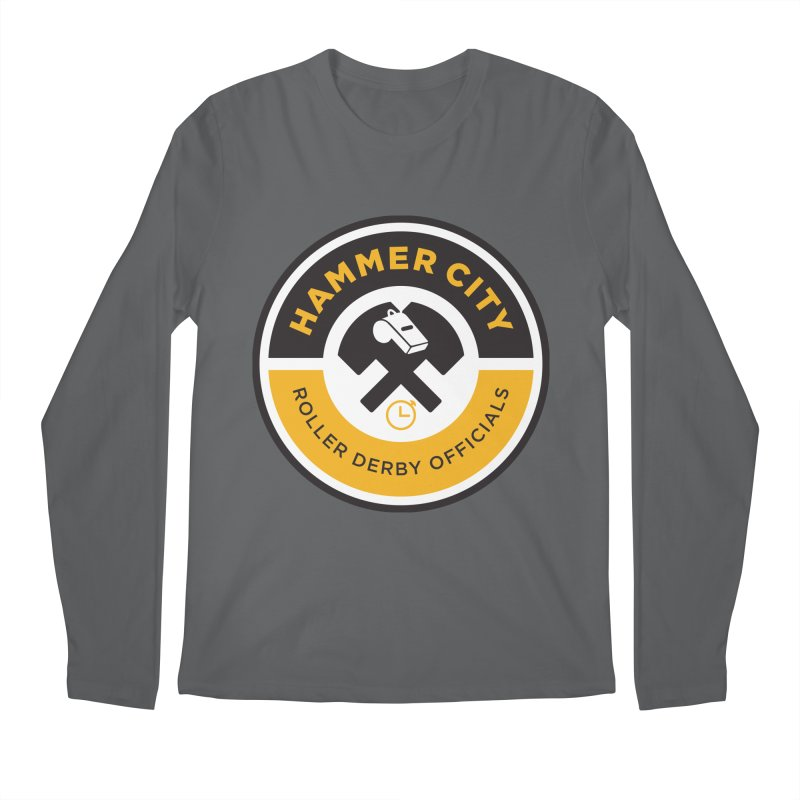 HCRD OFFICIALS Logo Men's Longsleeve T-Shirt by Hammer City Roller Derby