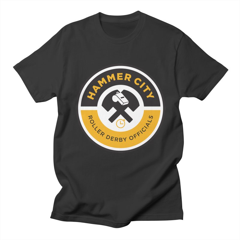 HCRD OFFICIALS Logo Women's Regular Unisex T-Shirt by Hammer City Roller Derby