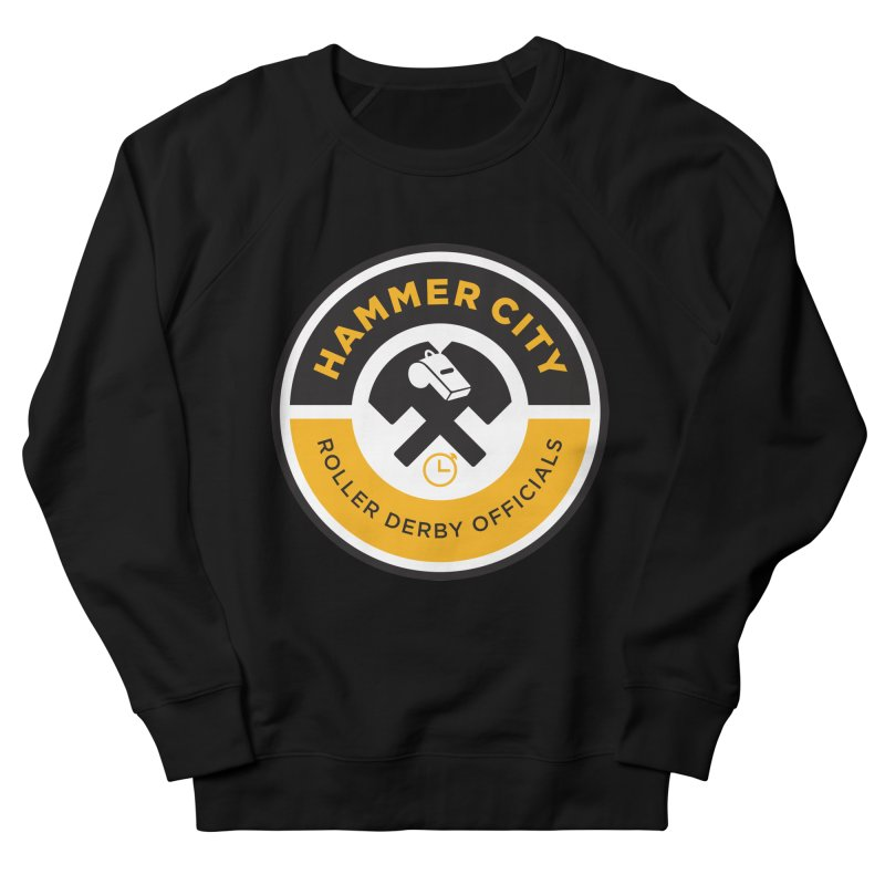 HCRD OFFICIALS Logo Men's French Terry Sweatshirt by Hammer City Roller Derby