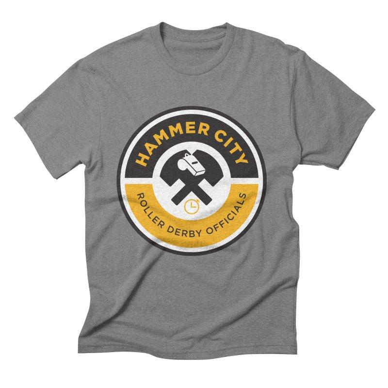HCRD OFFICIALS Logo Men's Triblend T-Shirt by Hammer City Roller Derby
