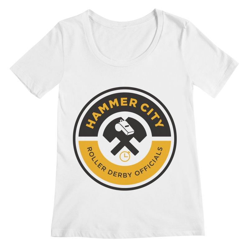 HCRD OFFICIALS Logo Women's Regular Scoop Neck by Hammer City Roller Derby