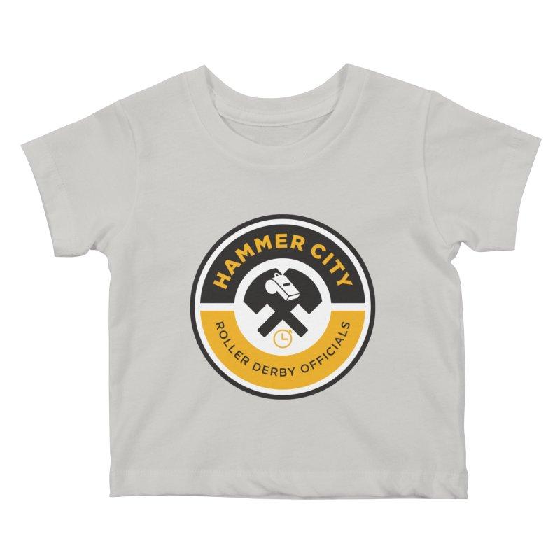 HCRD OFFICIALS Logo Kids Baby T-Shirt by Hammer City Roller Derby