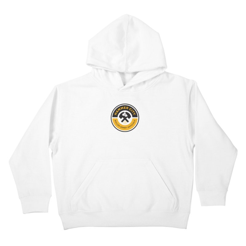 HCRD OFFICIALS Logo Kids Pullover Hoody by Hammer City Roller Derby