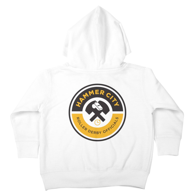 HCRD OFFICIALS Logo Kids Toddler Zip-Up Hoody by Hammer City Roller Derby