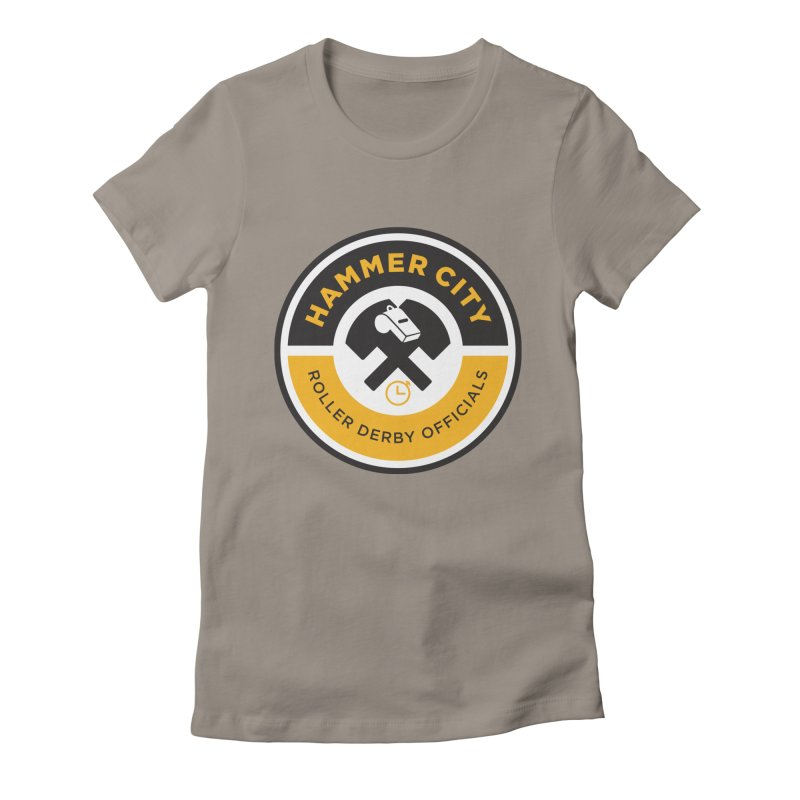 HCRD OFFICIALS Logo Women's Fitted T-Shirt by Hammer City Roller Derby