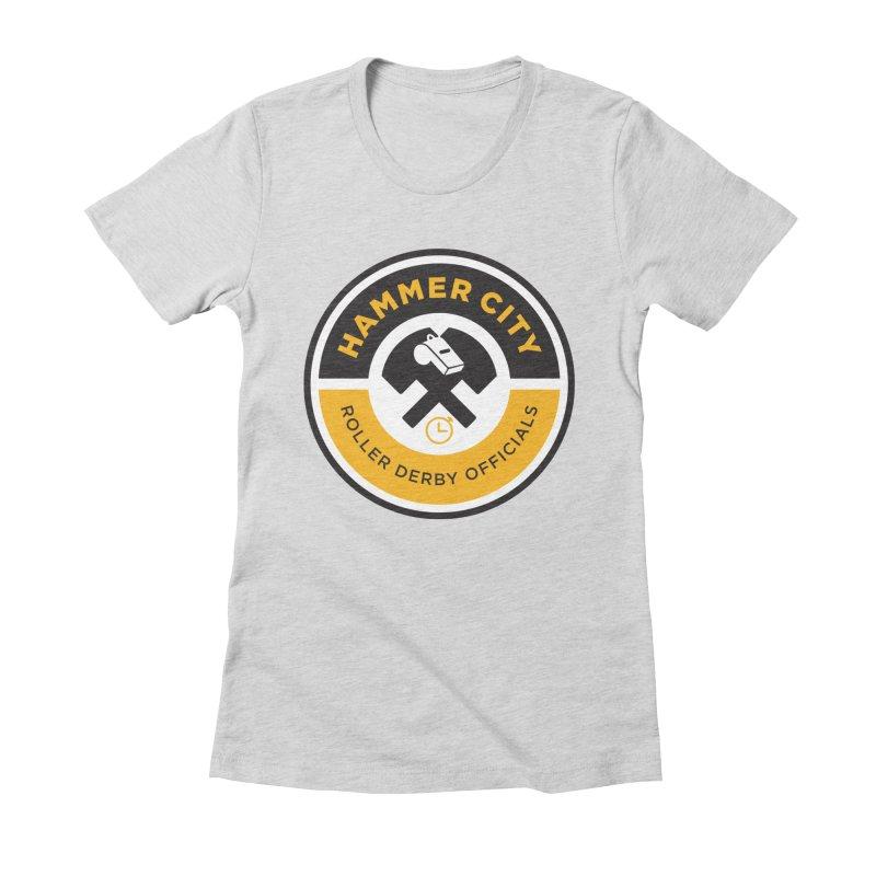 HCRD OFFICIALS Logo Women's Fitted T-Shirt by Hammer City Roller Derby