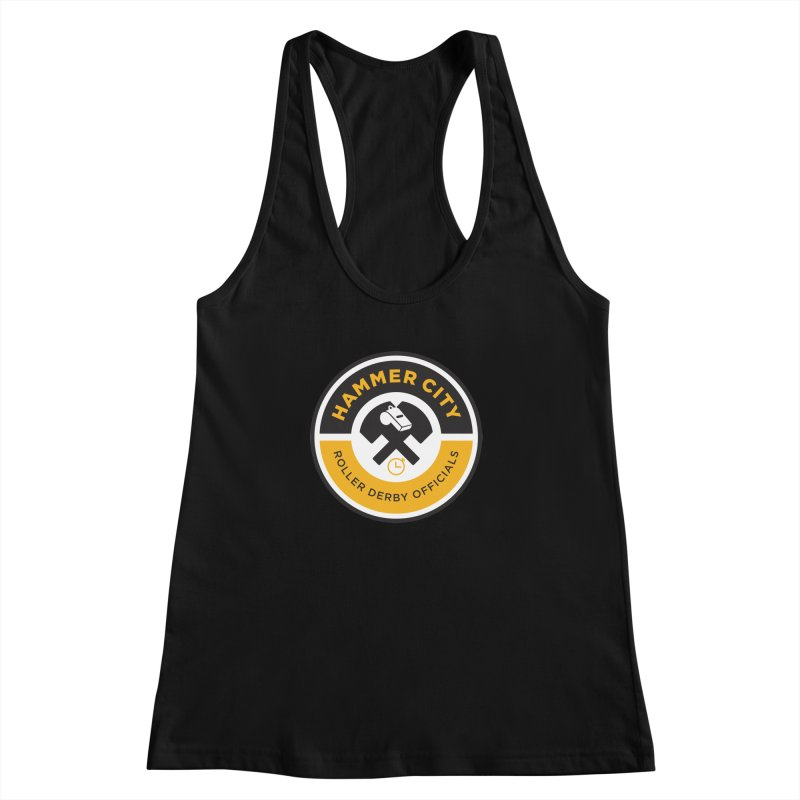 HCRD OFFICIALS Logo Women's Racerback Tank by Hammer City Roller Derby