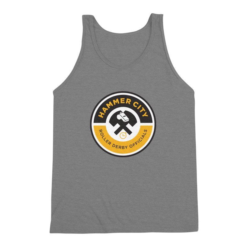 HCRD OFFICIALS Logo Men's Triblend Tank by Hammer City Roller Derby