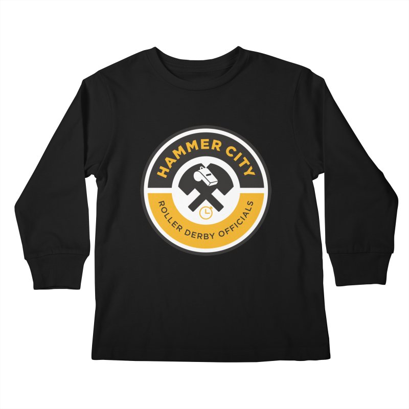 HCRD OFFICIALS Logo Kids Longsleeve T-Shirt by Hammer City Roller Derby