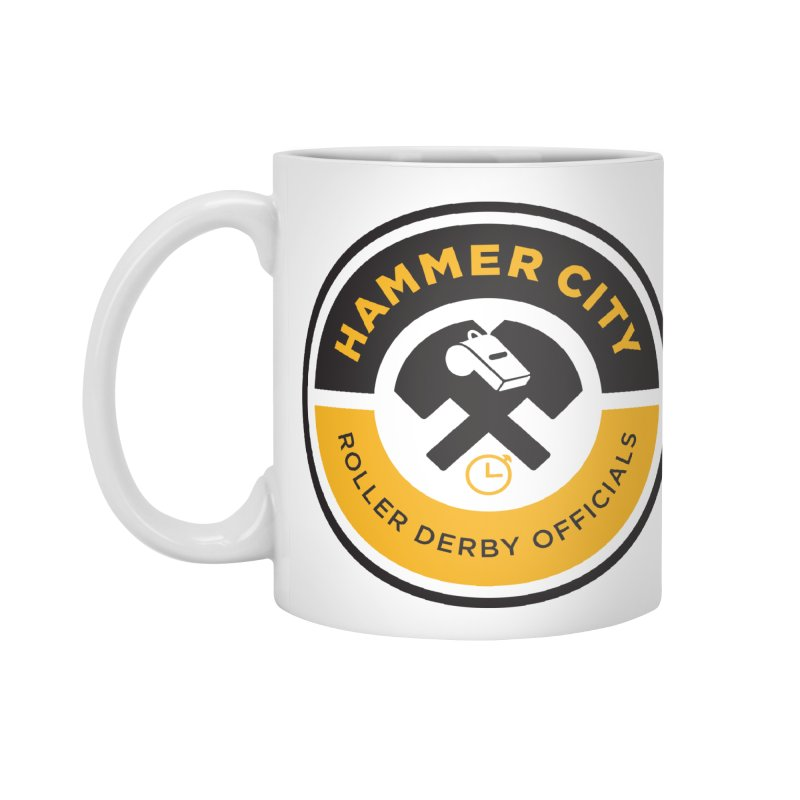 HCRD OFFICIALS Logo Accessories Mug by Hammer City Roller Derby