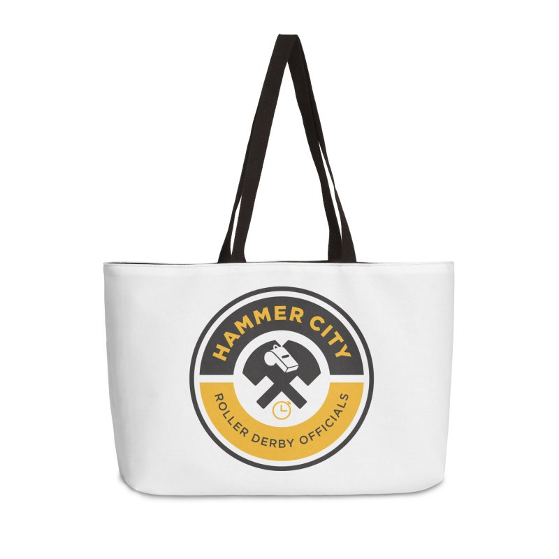 HCRD OFFICIALS Logo Accessories Weekender Bag Bag by Hammer City Roller Derby