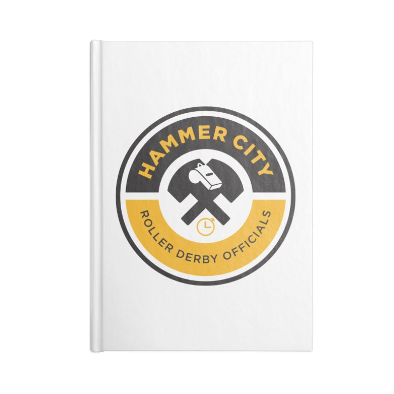 HCRD OFFICIALS Logo Accessories Lined Journal Notebook by Hammer City Roller Derby