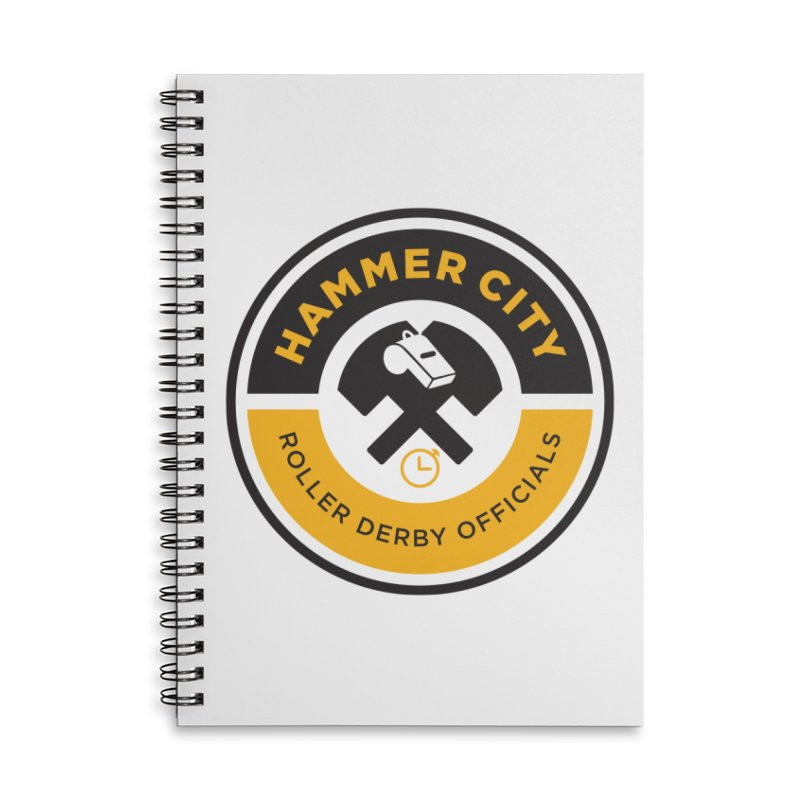 HCRD OFFICIALS Logo Accessories Lined Spiral Notebook by Hammer City Roller Derby