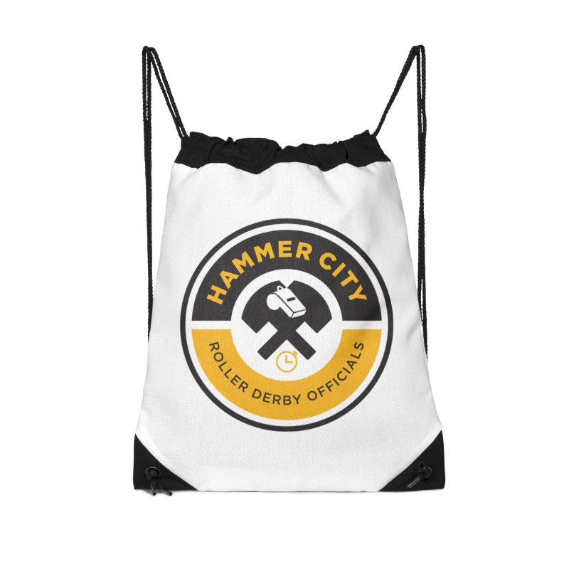 HCRD OFFICIALS Logo Accessories Drawstring Bag Bag by Hammer City Roller Derby