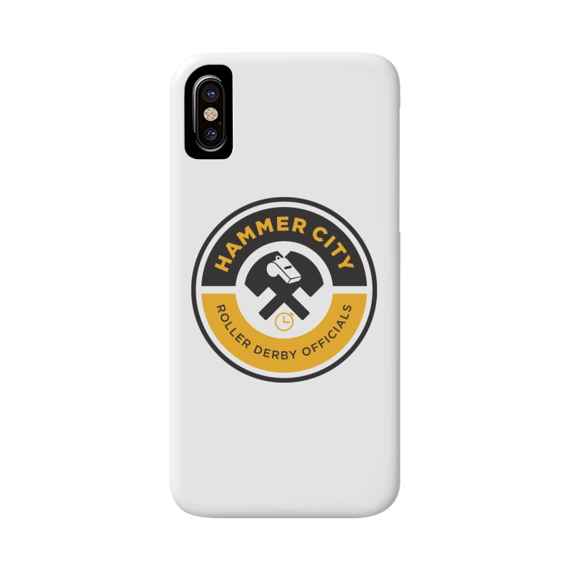 HCRD OFFICIALS Logo Accessories Phone Case by Hammer City Roller Derby