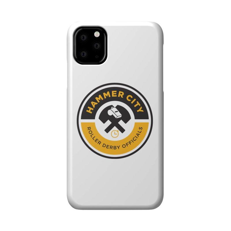 HCRD OFFICIALS Logo Accessories Phone Case by Hammer City Roller Derby