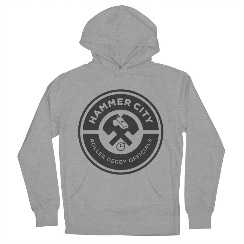 HCRD OFFICIALS Logo Women's French Terry Pullover Hoody by Hammer City Roller Derby