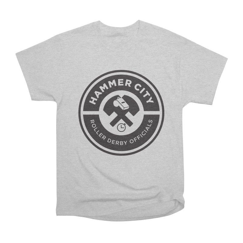 HCRD OFFICIALS Logo Men's Heavyweight T-Shirt by Hammer City Roller Derby