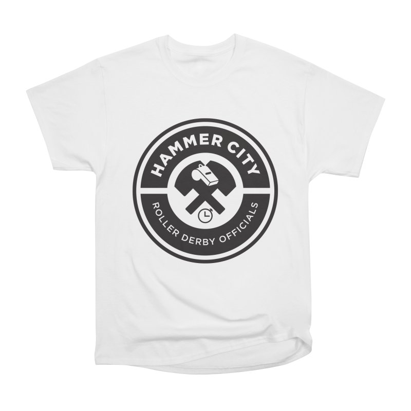 HCRD OFFICIALS Logo Women's Heavyweight Unisex T-Shirt by Hammer City Roller Derby