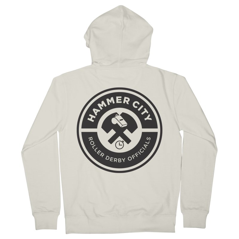 HCRD OFFICIALS Logo Men's Zip-Up Hoody by Hammer City Roller Derby