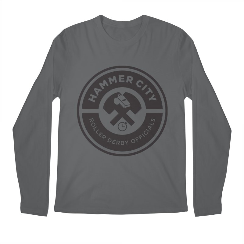 HCRD OFFICIALS Logo Men's Regular Longsleeve T-Shirt by Hammer City Roller Derby