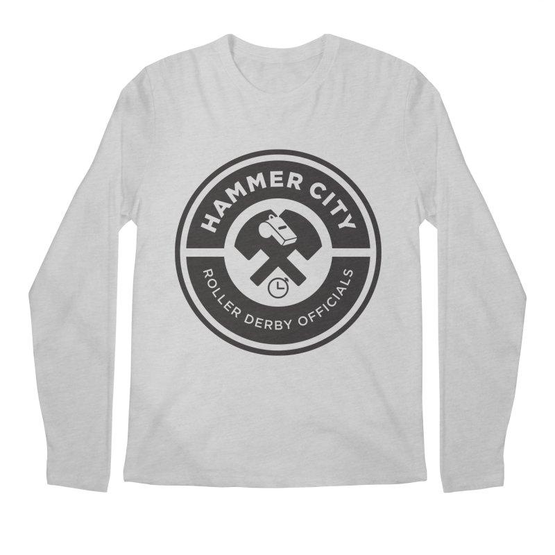 HCRD OFFICIALS Logo Men's Regular Longsleeve T-Shirt by Hammer City Roller Derby