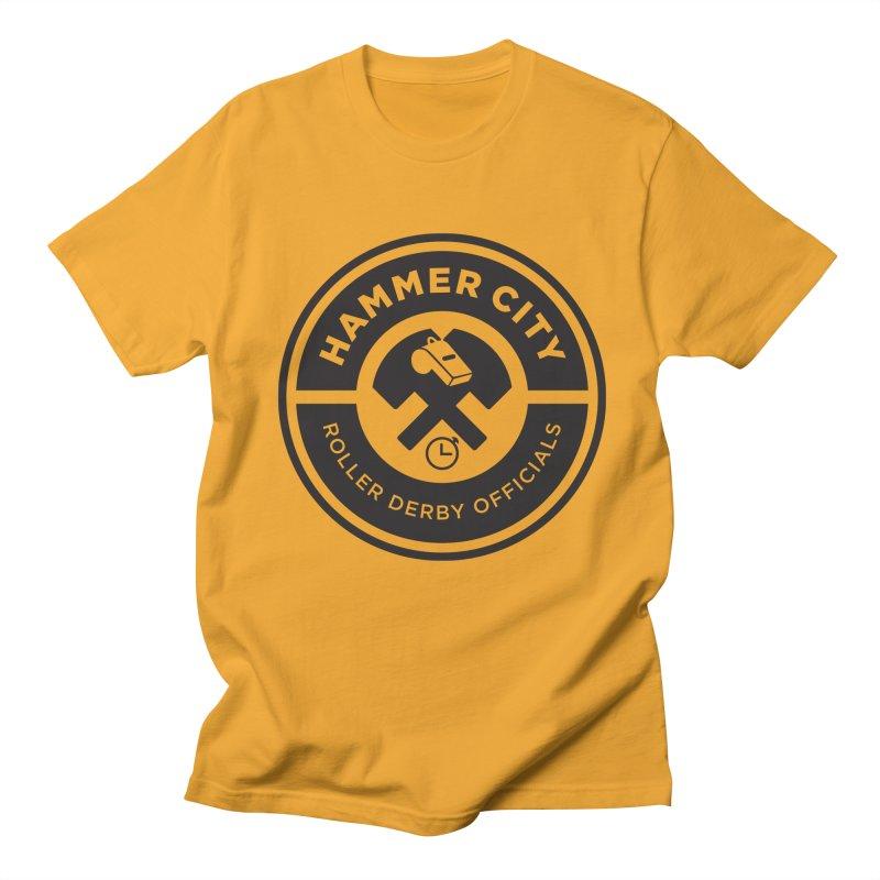 HCRD OFFICIALS Logo Men's Regular T-Shirt by Hammer City Roller Derby