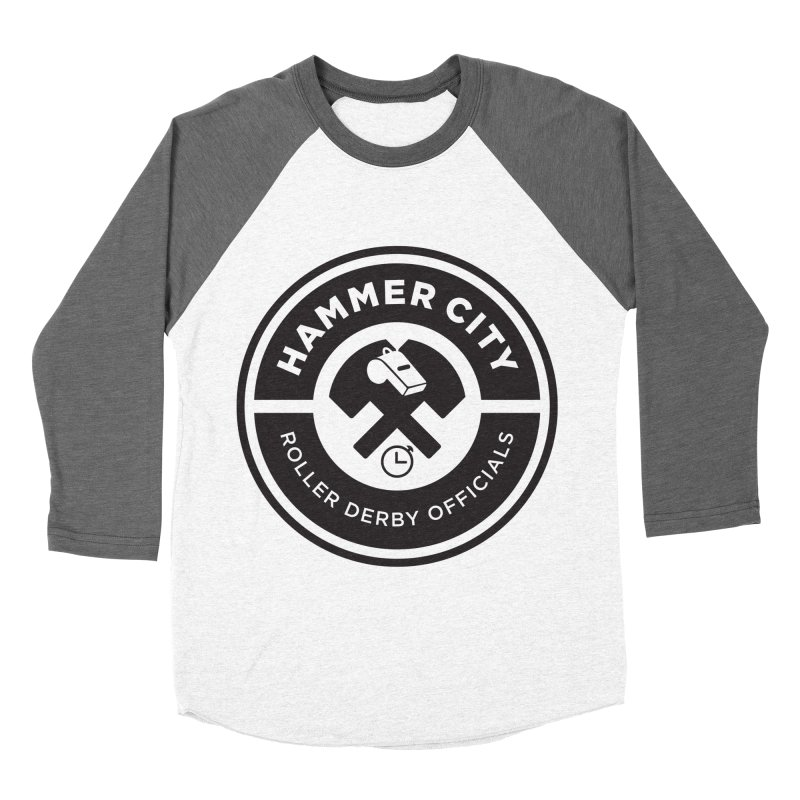 HCRD OFFICIALS Logo Men's Baseball Triblend Longsleeve T-Shirt by Hammer City Roller Derby