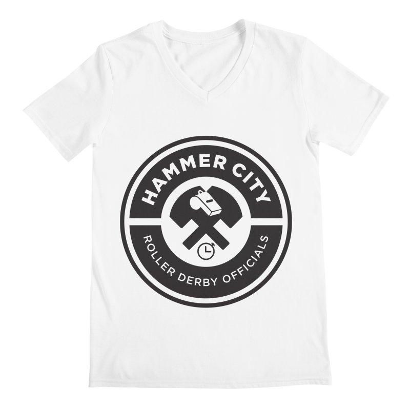 HCRD OFFICIALS Logo Men's Regular V-Neck by Hammer City Roller Derby
