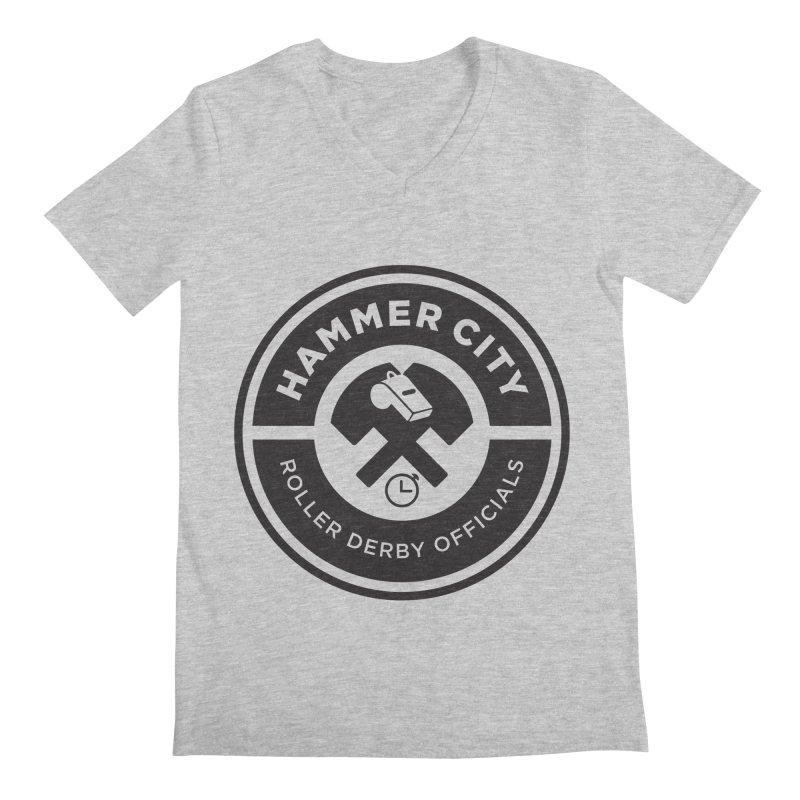 HCRD OFFICIALS Logo Men's V-Neck by Hammer City Roller Derby