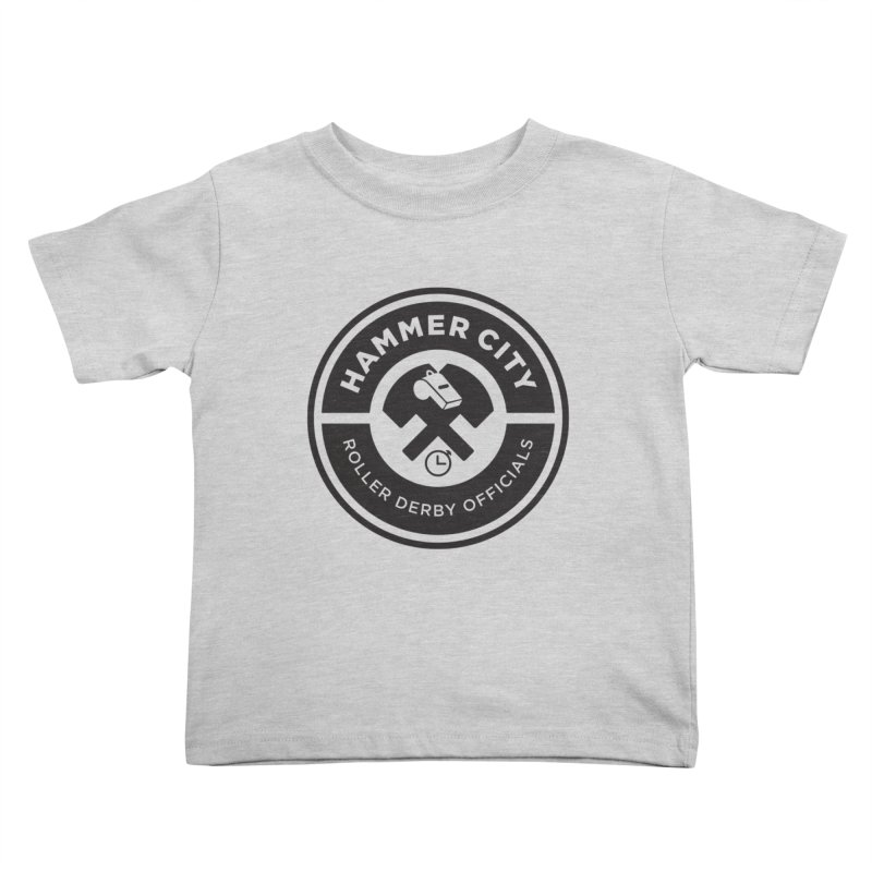 HCRD OFFICIALS Logo Kids Toddler T-Shirt by Hammer City Roller Derby