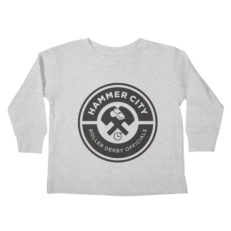 HCRD OFFICIALS Logo Kids Toddler Longsleeve T-Shirt by Hammer City Roller Derby