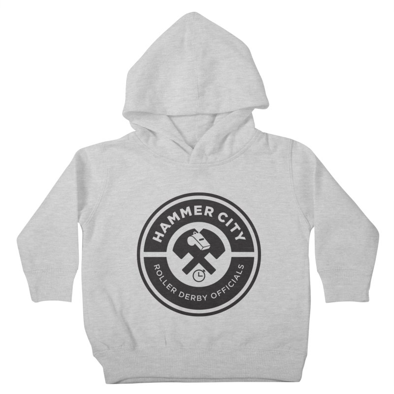 HCRD OFFICIALS Logo Kids Toddler Pullover Hoody by Hammer City Roller Derby