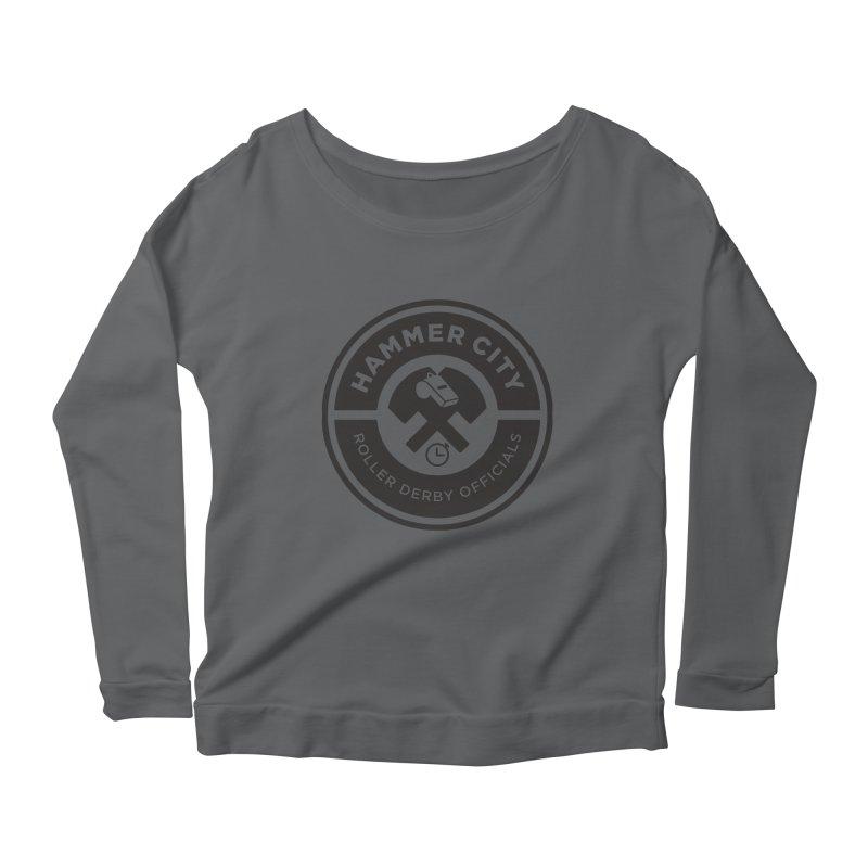 HCRD OFFICIALS Logo Women's Scoop Neck Longsleeve T-Shirt by Hammer City Roller Derby