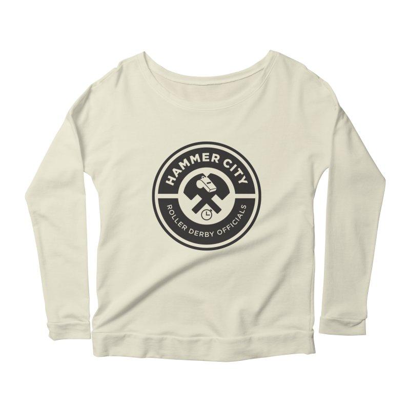 HCRD OFFICIALS Logo Women's Longsleeve Scoopneck  by Hammer City Roller Derby