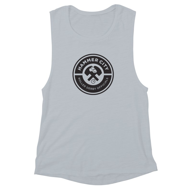 HCRD OFFICIALS Logo Women's Muscle Tank by Hammer City Roller Derby