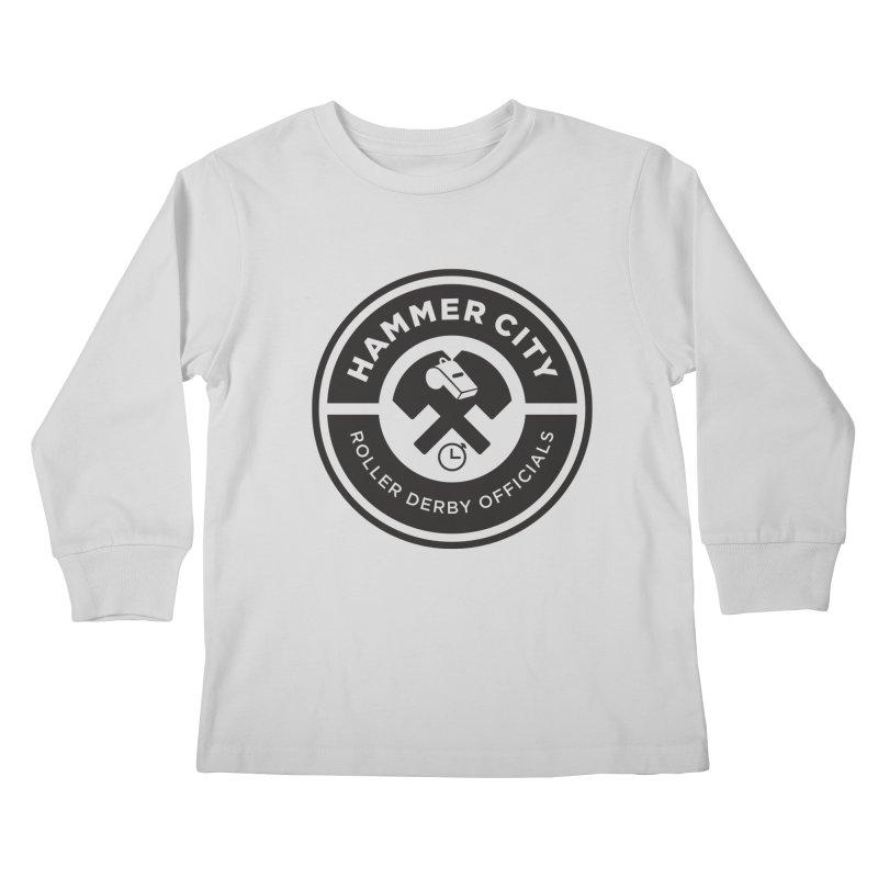 HCRD OFFICIALS Logo Kids Longsleeve T-Shirt by Hammer City Roller Derby