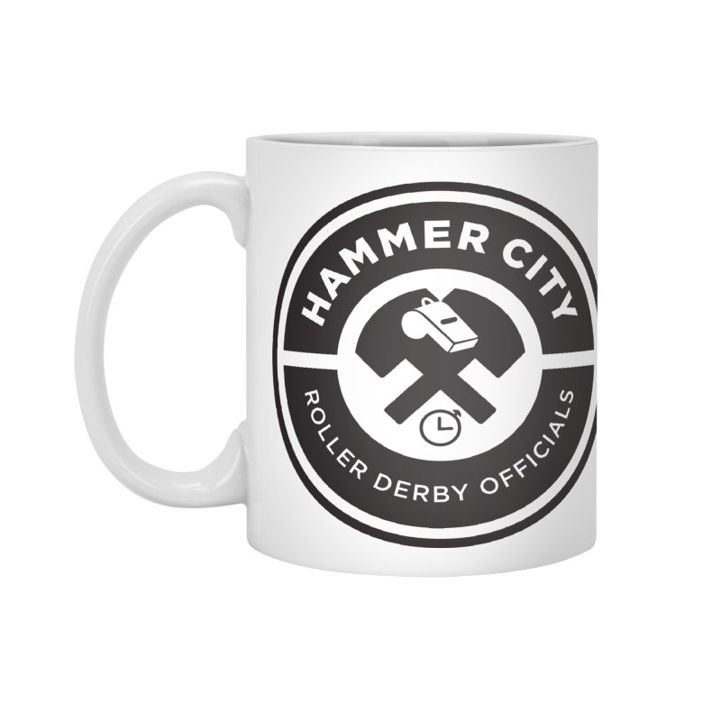 HCRD OFFICIALS Logo Accessories Standard Mug by Hammer City Roller Derby