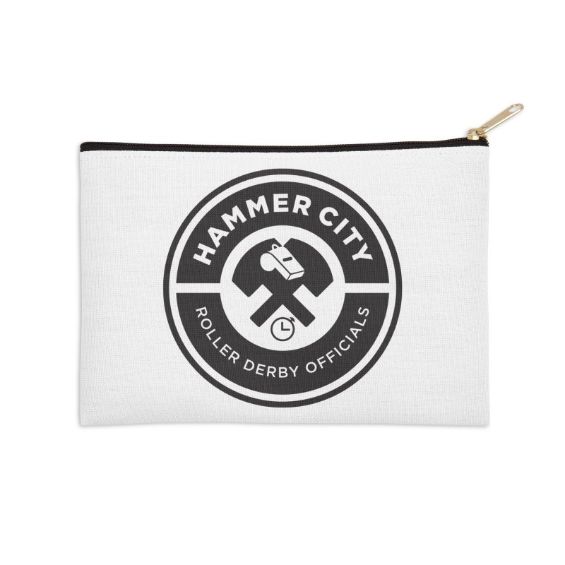HCRD OFFICIALS Logo Accessories Zip Pouch by Hammer City Roller Derby