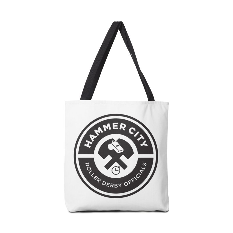 HCRD OFFICIALS Logo Accessories Tote Bag Bag by Hammer City Roller Derby