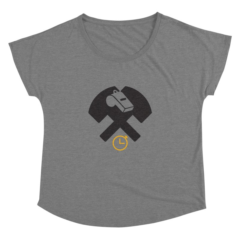 HCRD OFFICIALS Game Time Women's Dolman Scoop Neck by Hammer City Roller Derby