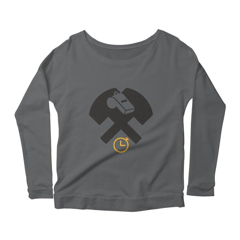 HCRD OFFICIALS Game Time Women's Scoop Neck Longsleeve T-Shirt by Hammer City Roller Derby