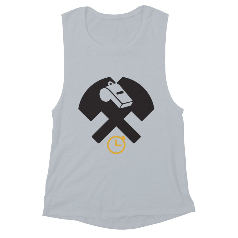 HCRD OFFICIALS Game Time Women's Muscle Tank by Hammer City Roller Derby